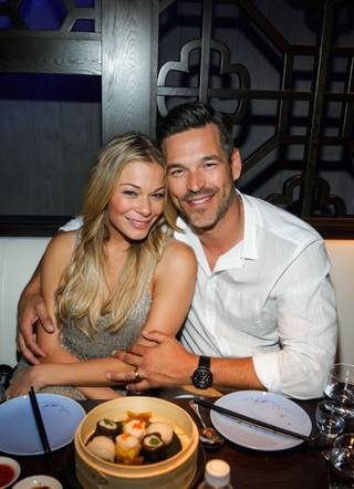 LeAnn Rimes and Eddie Cibrian dine at Hakkasan on Saturday, May 10, 2014, in MGM Grand.