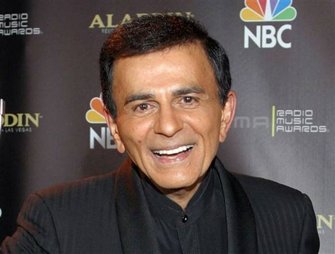 Casey Kasem in 2003 after receiving the Radio Icon Award during the 2003 Radio Music Awards at the Aladdin in Las Vegas.
