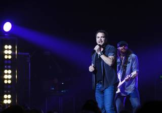 Mike Eli and James Young of the Eli Young Band perform at Pearl at the Palms on Saturday, May 10, 2014, in Las Vegas.