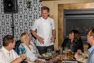 Gordon Ramsay hosts a Master Series Dinner for 2014 Vegas Uncork'd on Thursday, May 8, 2014, at his Gordon Ramsay Pub & Grill in Caesars Palace.