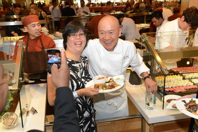 Masa Takahama at the All-Star Feast on Saturday, May 10, 2014, in the Buffet at Aria.