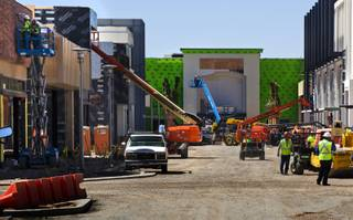 Construction continues on the new Downtown Summerlin project as developers lead a media