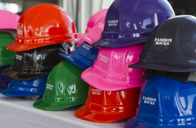 "Each attendee to the Downtown Summerlin media ""hard hat"" tour of the project will be expected to wear one for safety at the site on Thursday, May 15, 2014."