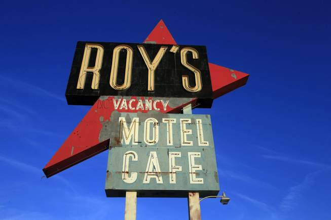 "The iconic Roy's Motel Cafe along ""America's Highway,"" Route 66, in Amboy, Calif."