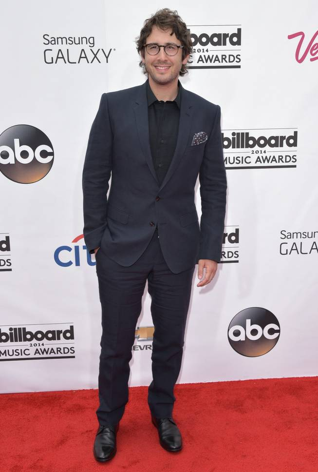 Josh Groban arrives at the 2014 Billboard Music Awards at MGM Grand Garden Arena on Sunday, May 18, 2014, in Las Vegas.