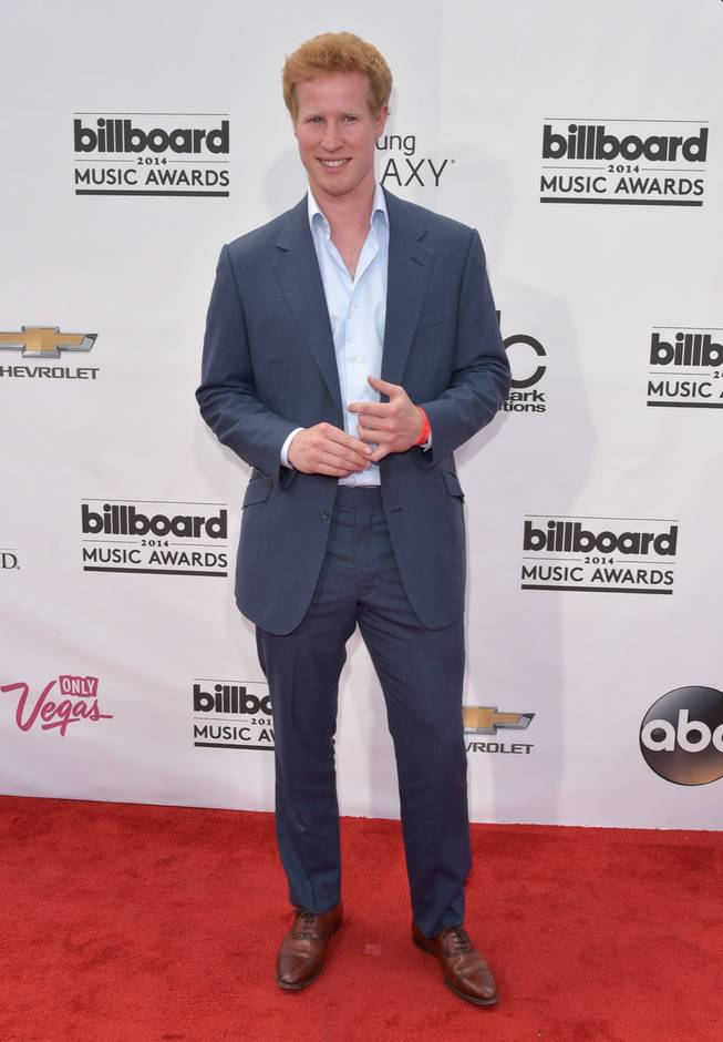 Matt Hicks arrives at the 2014 Billboard Music Awards at MGM Grand Garden Arena on Sunday, May 18, 2014, in Las Vegas.