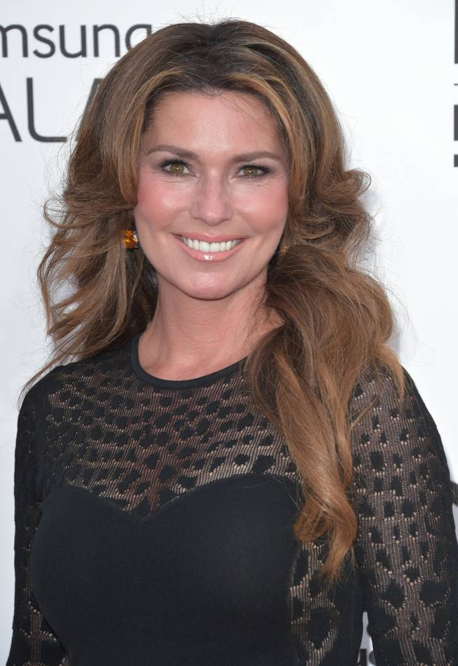 Shania Twain arrives at the 2014 Billboard Music Awards at MGM Grand Garden Arena on Sunday, May 18, 2014, in Las Vegas.