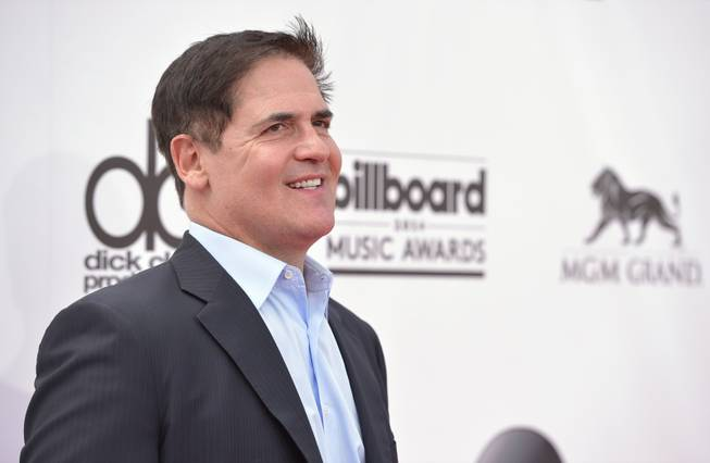 Mark Cuban arrives at the 2014 Billboard Music Awards at MGM Grand Garden Arena on Sunday, May 18, 2014, in Las Vegas.