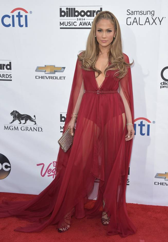 Jennifer Lopez arrives at the 2014 Billboard Music Awards at MGM Grand Garden Arena on Sunday, May 18, 2014, in Las Vegas.