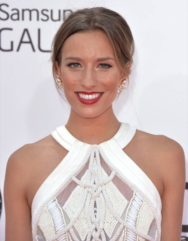 Renee Bargh arrives at the 2014 Billboard Music Awards at MGM Grand Garden Arena on Sunday, May 18, 2014, in Las Vegas.