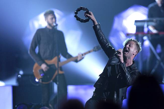 Ryan Tedder of OneRepublic performs during the 2014 Billboard Music Awards at the MGM Grand Garden Arena Sunday, May 18, 2014.