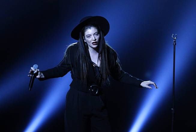 "Lorde, 17, of New Zealand performs ""Tennis Court"" during the 2014 Billboard Music Awards at the MGM Grand Garden Arena Sunday, May 18, 2014. Lorde won the Top New Artist award."