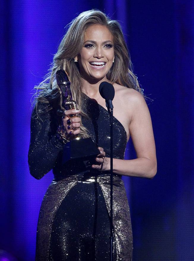 Jennifer Lopez accepts the Icon Award during the 2014 Billboard Music Awards at MGM Grand Garden Arena on Sunday, May 18, 2014.