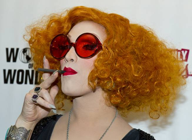 """RuPaul's Drag Race"" season five winner Jinkx Monsoon poses on the Red Carpet for the Season 6 Finale Viewing Party featuring a live screening of the show at The New Tropicana on Monday, May 19, 2014."