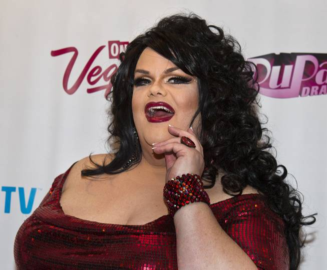 "Darienne Lake poses on the Red Carpet for ""RuPaul's Drag Race"" at the Season 6 Finale Viewing Party featuring a live screening of the show at The New Tropicana on Monday, May 19, 2014."