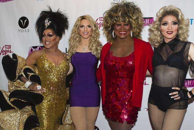 "The cast of Divas Las Vegas on the Red Carpet for ""RuPaul's Drag Race"" at the Season 6 Finale Viewing Party featuring a live screening of the show at The New Tropicana on Monday, May 19, 2014."