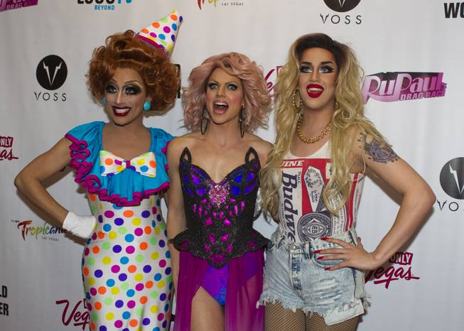 """RuPaul's Drag Race"" cast member finalists Bianca Del Rio, Courtney Act and Adore Delano gather on the Red Carpet for their Season 6 Finale Viewing Party featuring a live screening of the show at The New Tropicana on Monday, May 19, 2014."