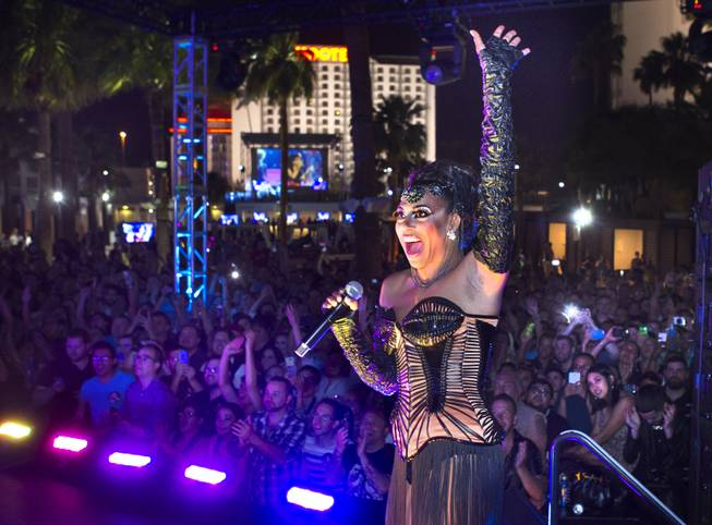 "Shangela and the crowd react to Bianca Del Rio being named Americas Next Drag Superstar as they all view  the season 6 finale of ""RuPaul's Drag Race"" from The Havana Room at The New Tropicana on Monday, May 19, 2014."