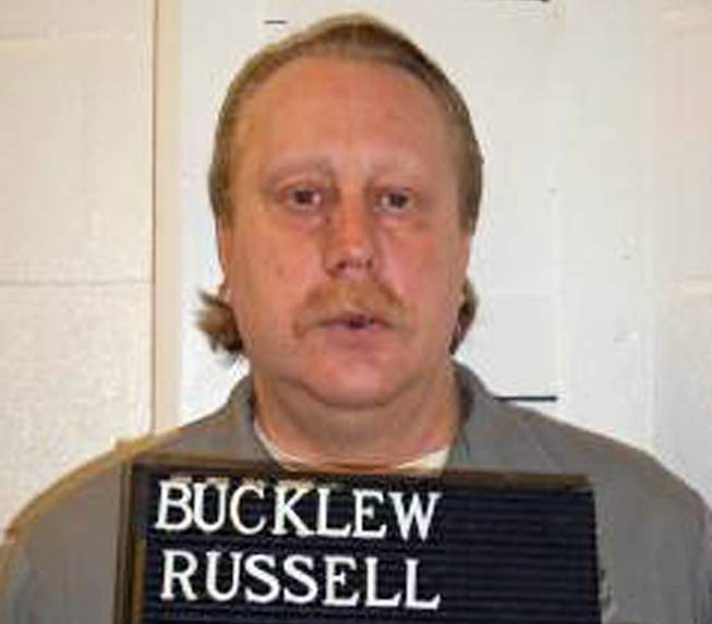 In this Feb. 9, 2014, file photo provided by the Missouri Department of Corrections is Russell Bucklew, who is scheduled to die for killing a romantic rival as part of a crime spree in southeast Missouri in 1996.