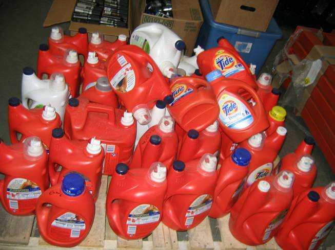 About half of Metro Police retail arrests last year involved laundry detergent. This booty of Tide, assembled one or two items at a time and kept in a storage unit to be sold at a fraction of the suggested retail price, came from a 2009 bust.