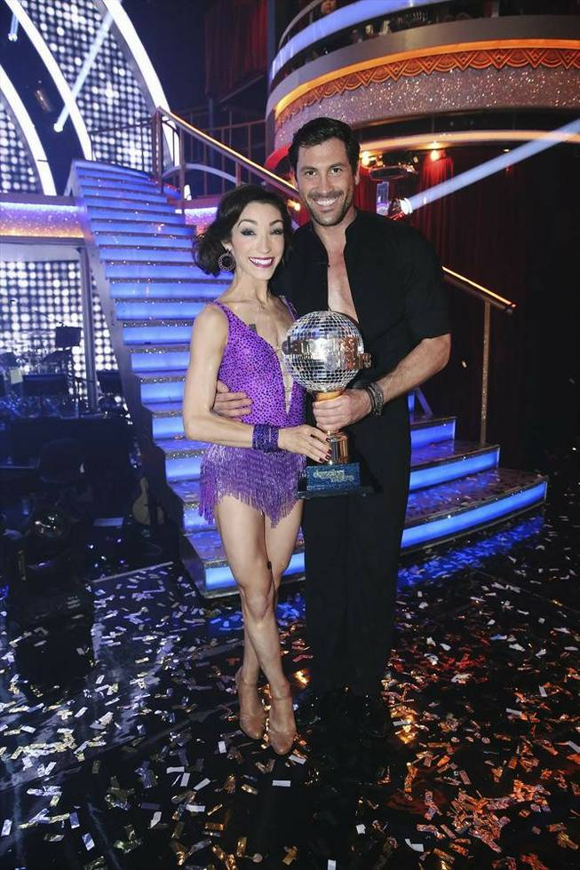 "Maksim Chmerkovskiy and ice dancer Meryl Davis won Season 18 victory on ABC's ""Dancing With the Stars"" on Tuesday, May 20, 2014."