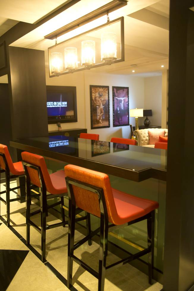 A first look at one of the Suites at The Cromwell, Wednesday May 21, 2014. The Cromwell is the first stand-alone boutique hotel located on the Las Vegas Strip.