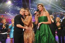 "Derek Hough, Amy Purdy and Erin Andrews on ABC's ""Dancing With the Stars"" on Tuesday, May 20, 2014."