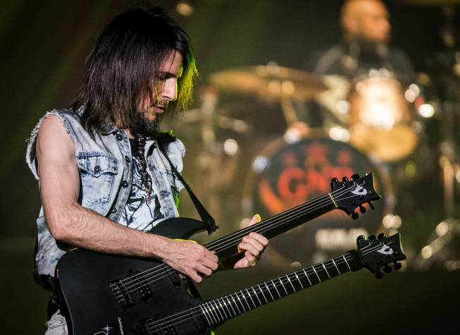 Bumblefoot performs during Guns N Roses' An Evening of Destruction, No Trickery!, which marked their return to The Joint at Hard Rock Hotel & Casino to launch their second residency on Wednesday, May 21, 2014.