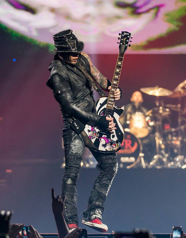 DJ Ashba performs during Guns N Roses' An Evening of Destruction, No Trickery!, which marked their return to The Joint at Hard Rock Hotel & Casino to launch their second residency on Wednesday, May 21, 2014.