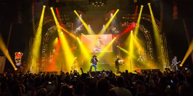 Guns N Roses marked its return to The Joint at Hard Rock Hotel & Casino to launch its second residency, An Evening of Destruction, No Trickery!, on Wednesday, May 21, 2014.