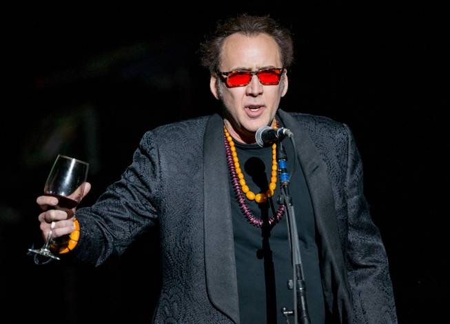Nicolas Cage helped kick off Guns N Roses' return to The Joint at Hard Rock Hotel & Casino to launch its second residency, An Evening of Destruction, No Trickery!, on Wednesday, May 21, 2014.