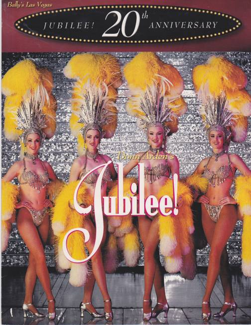 "Sabina Kelley, right, in ""Jubilee!"" at Bally's."