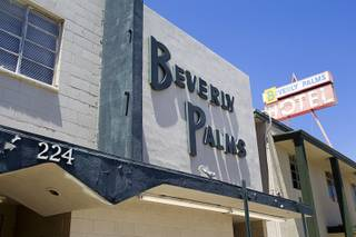 A view of the Beverly Palms Hotel on Sixth Street in downtown Las Vegas Tuesday, May 15, 2014. STEVE MARCUS