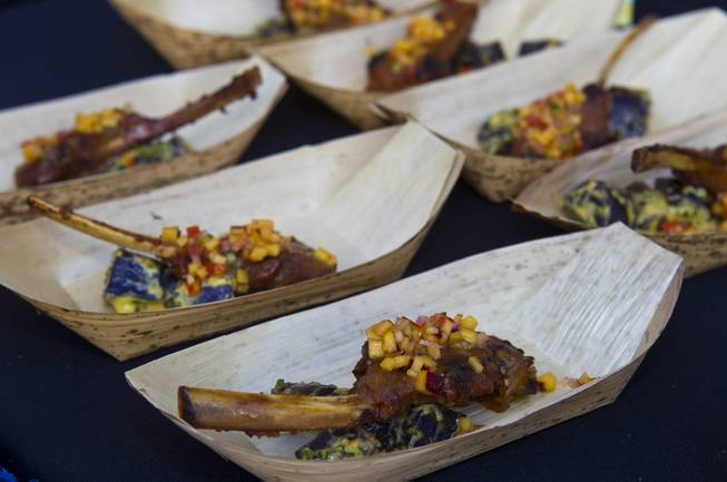 The Epicurean Affair features a lamb dish during the annual showcase of nearly 75 of Las Vegas finest restaurants, nightclubs and beverage purveyors on Thursday, May 22, 2014.