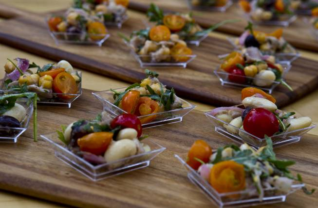 Carnevino serves preserved tuna salad alla Siciliana and lemon sgroppino during the Epicurean Affair presented by the Nevada Restaurant Association at the Palazzo on Thursday, May 22, 2014.