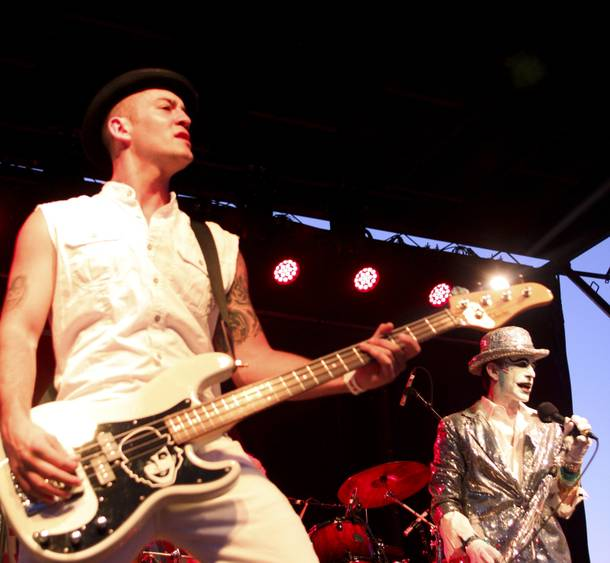The Adicts perform at the Punk Rock Bowling & Music Festival Sunday, May 25, 2014.