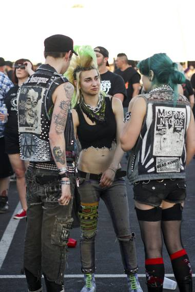 Festival goers at the Punk Rock Bowling & Music Festival Sunday, May 25, 2014.
