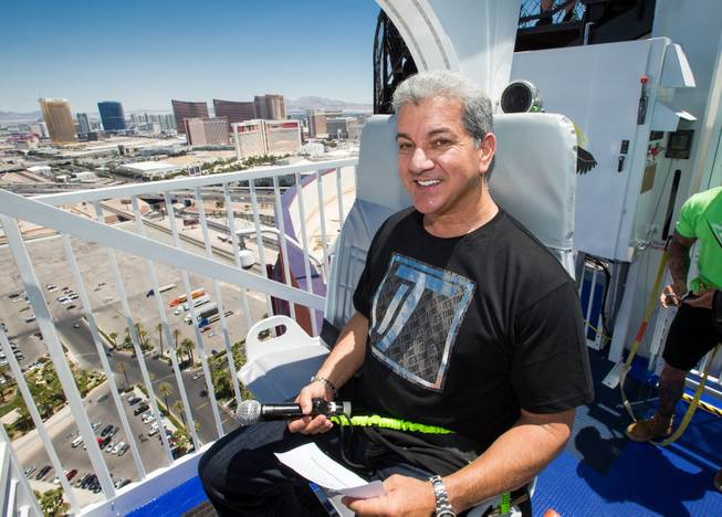 Bruce Buffer kicked off the opening of Rio's VooDoo Zip Line Sunday, May 25, 2014.  Courtesy of Rio Photo credit to Erik Kabik.
