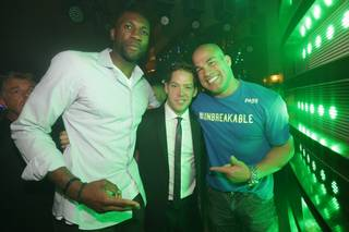 Festus Ezeli, Jesse Waits and Tito Ortiz at XS on Saturday, May 24, 2014, in Encore.