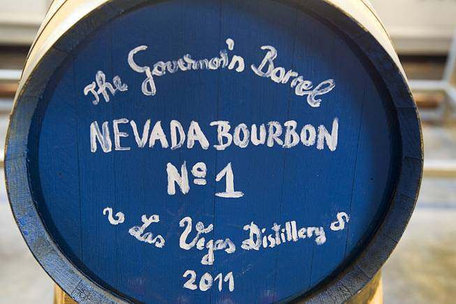 "The ""Governor's Barrel"" is shown at the Las Vegas Distillery in Henderson Thursday, May 29, 2014. Nevada Governor Brian Sandoval helped fill the first bottle of ""Nevada 150,"" a bourbon whiskey created for the Nevada sesquicentennial."