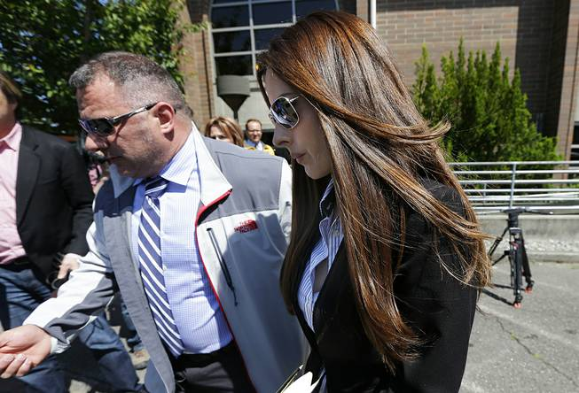 Kerri Kasem, the daughter of ailing radio personality Casey Kasem, leaves Kitsap County Courthouse on Friday, May 30, 2014, in Port Orchard, Wash.