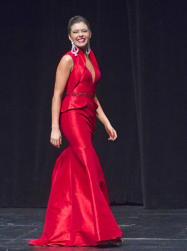 Ellie Smith of Henderson competes in the Miss Nevada and Miss Nevada Outstanding Teen Pageant at the Las Vegas Academy Theater Sunday, June 1, 2014. Smith was later corned 2014 Miss America. Her sister Amy Smith was crowned 2014 Miss Nevada Outstanding Teen.