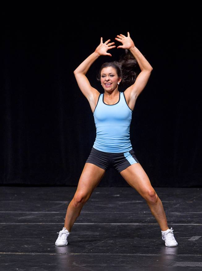 Amy Smith competes in a Lifestyle and Fitness category during the Miss Nevada and Miss Nevada Outstanding Teen Pageant at the Las Vegas Academy Theater Sunday, June 1, 2014. Smith was later crowned 2014 Miss Nevada Outstanding Teen.
