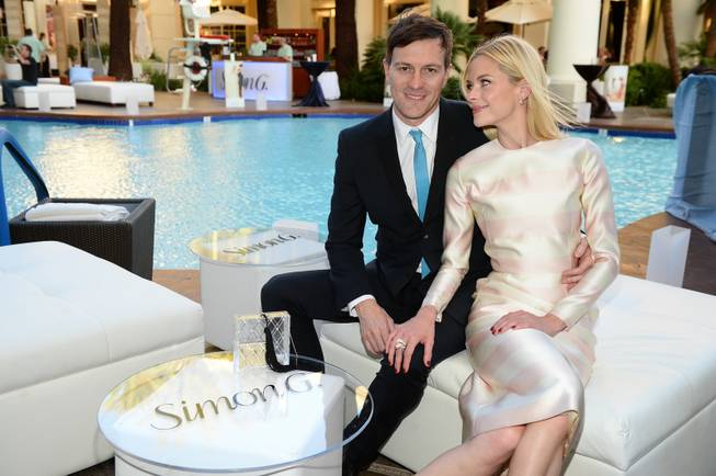 Jaime King and husband Kyle Newman enjoy the annual Simon G. Soiree at the Four Seasons Hotel on Saturday, May 31, 2014.
