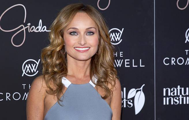 Celebrity chef Giada De Laurentiis arrives during the VIP grand opening of Giada, the first Giada De Laurentiis restaurant, on Monday, June 2, 2014, in the Cromwell.