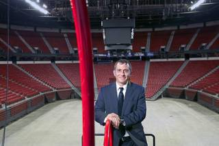 Tuff-N-Uff CEO Jeff Meyer poses at the Thomas & Mack Center Tuesday, June 3, 2014. The amateur mixed martial arts organization will celebrate it's 20th anniversary with a free amateur fight card,
