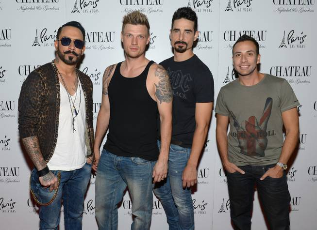 The Backstreet Boys at Chateau in the Paris on Saturday, ...