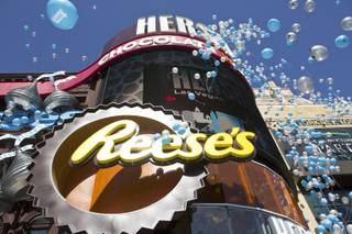 Hershey's Chocolate World, at New York-New York Hotel & Casino, opens its doors to the public during a special ribbon-cutting ceremony, Tuesday, June 3, 2014.