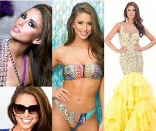 Miss Nevada USA Nia Sanchez in Baton Rouge, La., for the 2014 Miss USA Pageant, which airs Sunday, June 8, 2014, on NBC.