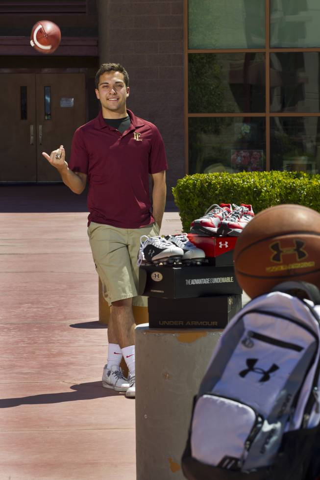 Faith Lutheran junior Jordan Coppert started a sports equipment collection program to be donated to underprivileged youth and has an upcoming community event to donate goods.